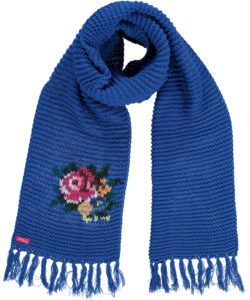 Big Shawl Rose Blue