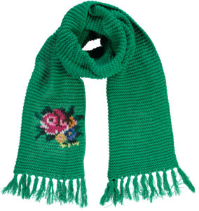Big Shawl Rose Green