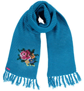 Big Shawl Rose light Blue