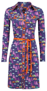 Dress Betsy Happy Camper Purple