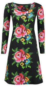 Dress Bibi Pixel rose black