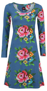 Dress Bibi Pixelrose Blue
