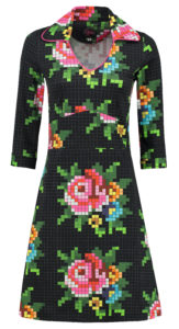 Dress Mia Pixel Rose Black