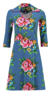 Dress Mia Pixel Rose Blue