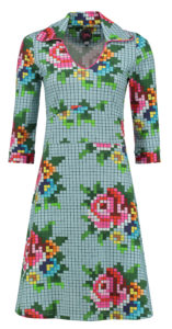 Dress Mia Pixel Rose Ice Blue