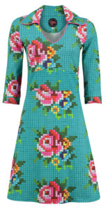 Dress Mia Pixel Rose Old Blue