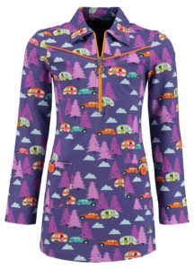 Dress Sporty Girl Happy Camper Purple