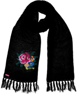Shawl Rose Black