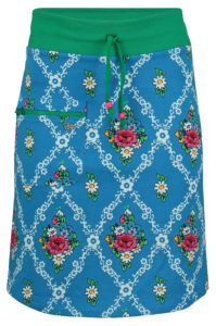 Zipper Skirt gardenia Blue