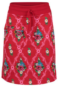 Zipper skirt Gardenia Red