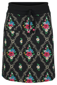 Zipper skirt gardenia Black