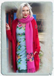aw18 lb sjaal roze