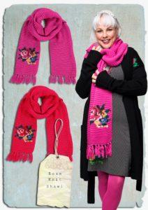aw18lb rose knit shawl