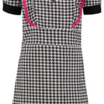 dress kiki mini houndstooth black