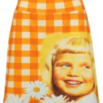 kitschy skirt girl orange