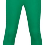 legging capri mini green