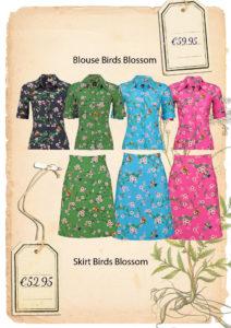 ov birds blossom skirt