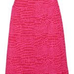 skirt overslag animal red