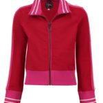sporty girl jacket red