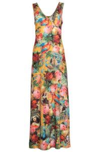 LASU1841-LaLamour-long-dress-yellow-polkadot