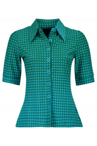 button_shirt_disco_dots_green