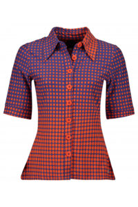 button_shirt_disco_dots_orange